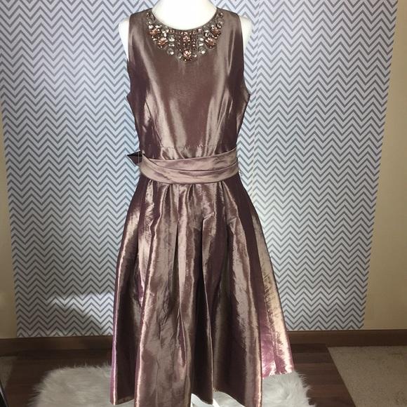 Bronze Tea Length Dresses